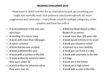 Reading Challenge 2015 / Read more in 2015! Use this list as inspiration to pick up something you might not normally read and remember – many books could fit multiple categories, so be creative and have fun with it