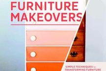 furniture/paint, spray, mirrors, build it  diy / furniture recreate it to your liking, color spray a the fabric, use mirror tiles, gloss it, distress it, use wallpaper, tissue paper, fabric and you own an original.