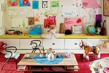 our home's kid spaces / inspirations for creating spaces for the kids that are inspirational, calm, and appropriate / by Sadie Smith