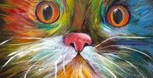 Animal Art, Cats, Birds, Dogs, Rabbits, Cows, Goats, Horses, Fish / All kinds of animals, pet portraits by Penny Lee Stewart http://www.craftylady.com.