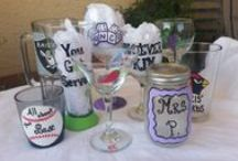 Glass / WhateverKim Glass Designs - Whatever glass, Whatever design, Whatever personalization...I'll make it for you! / by WhateverKim Glass Designs