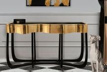 Gold Console Table / Gold Decor Ideas, the most trendy design console tables