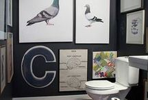 HOME DECOR   Bathroom Inspiration / Ideas to take the bathroom and powder room from builder basic to bloody brilliant!