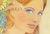 Vintage Makeup Posters / I'm obsessed with our past. And I love makeup, especially the lipsticks :) / by Katelyn Hall