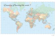 The Wishing Map / Inspire adventure in your home or office on a daily basis with this reminder. An ode to wanderlust, it reads, 'Dreaming of travelling the world..?' Perfect for tagging your bucket list destinations. How many destinations have you checked off your travel bucket list?