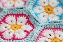 crochet tutorials hexagons / by Jeannette