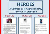 Subplanners / Full days of activities for your sub teacher, grades K-5.  Activities in all academic areas are developed around a theme and aligned to common core grade level standards.