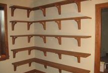 Customer Gallery-bookshelves and misc. / Customer submitted photos of Tyler Morris Woodworking corbels and brackets. As incentive, all customers receive a discount code for 15% off their next order.