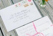 Charleston Wedding Stationary & Calligraphy Combos / Calligraphy and Weddings