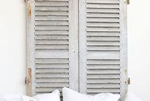 OldBASICS | Oude luiken / Oude luiken zijn enorm decoratief in huis; kijk voor de mooieste oude brocante luiken bij www.old-basics.nl vintage, shabby chic, landhausstil, shutters