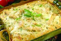Casserole Dinners and Sides / Baked Comfort Food in a casserole dish.
