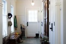 Mudroom / Mudroom Inspiration for your home.  Bright, Colorful, Organized, and a space that actually works for a family!