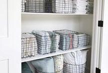 Closet Organization Ideas / Creative ways to keep your closets organized.