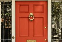 Architectural - Doors: Red, Orange & Yellow / by NanceInWA