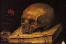 Vanitas / Vanitas, es decir, vanidad, debido al simbolismo de los objetos que presenta. Es un género propio del Barroco, que reflexiona sobre la futilidad del mundo y el conocimiento humano.