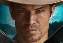 Justified / Anything and everything to do with Justified, the TV show. But they'll probably all mostly be of Timothy Olyphant... I'm shallow like that...