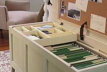 Office, Desk & Paperwork Organization - Kuzak's Closet / Professional organizing tips on how to organize paperwork and set up home office systems.