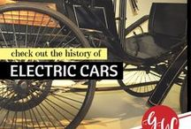 HISTORY: Electric Cars / History board of electic cars. 1899/1900 was the high point of electric cars in America, as they outsold all other types of cars.  While basic electric cars cost under $1,000, most early electric vehicles were ornate, massive carriages designed for the upper class. They had fancy interiors, with expensive materials, and averaged $3k by 1910. Electric vehicles enjoyed success into the 1920s with production peaking in 1912.