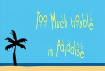 'Too Much Trouble in Paradise' - Inspiration board / The inspiration behind my Tenerife-based comedy romance.