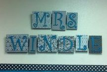 black, white, and teal classroom / Decorating my classroom