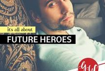 RESEARCH: Future Heroes / Idea board featuring hunky, wild-at-heart heroes for my future books.