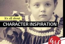 RESEARCH: Character Inspiration / Idea board for characters inspiration for fiction stories.