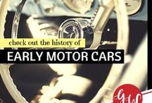 HISTORY: Early Motor Cars / History board featuring early motor cars, gasmobiles, and  automobiles from the late 1800s to 1969. I was born in 1970 so . . .