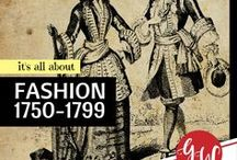 FASHION: 1750-1799 / History board featuring colonial, american revolution, and  federalist era fashion from 1750 to 1799.