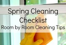 Spring Cleaning Organized! / Tips and Tricks to an organized spring clean!