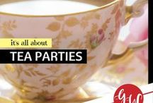 LOVE: Tea Parties / Idea board for hosting tea parties, including recipes, foods suggestions, decorating tips, games, etc