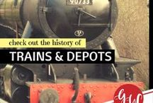 HISTORY: Train Depots, Trains, Streetcars & Trolleys / History of  trains, train depots, streetcars & trolleys