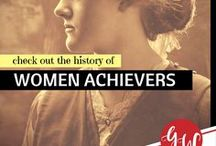 HISTORY: Women Achievers / History board featuring impressive women who made big and small achievements.