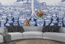 Royal Delft- Nicolette Mayer Fabric/Wallpaper Collection Blue and White