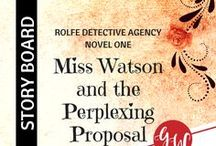 BOOK WIP: Miss Watson and the Perplexing Proposal / Idea board for Miss Watson and the Perplexing Proposal (book 1, Rolfe Detective Agency series, Kensington Publishing), featuring characters, settings, gothic fiction, cowboy detective agency, and reviews. | 1907 Fort Worth Texas | #clean #historical #romance