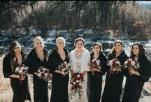 Mountain Winter Weddings / Mountain winter wedding inspiration for brides. #wildbasinlodge