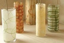 Manualidades con vidrio / Recopilación de imágenes de trabajos manuales donde se reutiliza o recicla el vidrio de tarros o botellas.