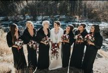 Bridesmaid Gowns for Mountain Weddings / Cute bridesmaids attire for your perfect mountain wedding!