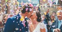 Confetti Moments! / Bristol based creative wedding photographer, capturing those all important fun confetti portraits