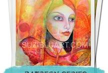 Mixed Media Art Suzi Blu / My art and workshops