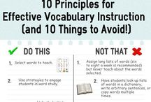 Teaching ☼ Vocabulary / Resources for teaching and learning the understanding and application of Vocabulary essential to the meaning of the text. Target: elementary/middle school.  / by Corrina Gideon
