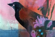 Crows / Crows, Ravens, blackbirds  Images by many including artist Robin Maria Pedrero website - http://robinmariapedrero.com/