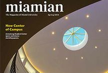 Miamian Magazine / Miamian, Miami University's alumni magazine, highlights alumni, student, faculty, and staff involvement with the University, updating readers on campus news and events, arts, sports, and alumni news. Miami's primary communication link with alumni and close friends of the University, the magazine sets out to inform and entertain while generating a sense of knowledge and involvement with Miami University. Miamian is published four times a year.
