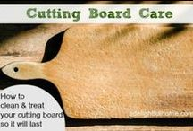 How To Take Care of Your Cutting Board / Caring for your wooden cutting is very easy.  Check it out.