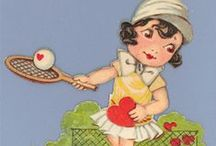 Be my Tennis Valentine / It's Valentine's weekend. Some cute ideas to copy and vintage Valentines to eye. With love to our game. xo #tennis #valentine