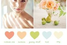 Colour palettes / Colour scheme inspiration for your wedding! #colour #palette #scheme #wedding #pastels #wedding #vintage #shabbychic #modern #elegant / by Heart Aflutter Bridal