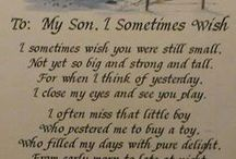 FOR MY SONS / Ideas for my 3 boys