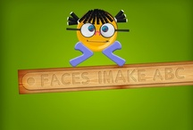 Faces iMake - ABC - Reviews and Screenshots / Part game, part puzzle, it's interactive, entertaining and offers the most fun with the alphabet since Sesame Street.   Faces iMake ABC is a space where kids can learn their ABC's while playing and making stuff - two activities young children enjoy.