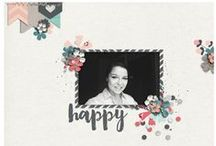 ZPD Scrappy Inspiration / Layouts and inspiration using products from Zoe Pearn Designs.