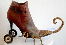 Pimp Your Shoe / Maak van een bestaande schoen een kunstwerk / by Bouwens Kunst A