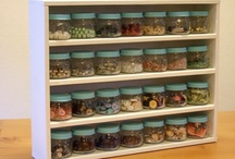 What to do with all the baby food jars... / I've been washing and saving our baby food jars, just waiting for that perfect project!